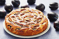 Plum pie homemade sweet food Royalty Free Stock Images