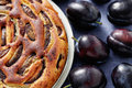Plum pie homemade sweet food Stock Image