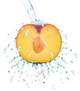 Plum splash Royalty Free Stock Photo