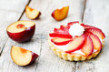 Plum tartlet Royalty Free Stock Photo