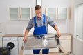 Plumber Fixing Sink Royalty Free Stock Photo