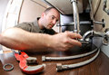 Plumber ta work Royalty Free Stock Photo
