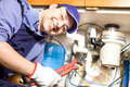 Plumber at work Royalty Free Stock Images