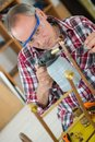 Plumber working with blow torch Royalty Free Stock Photo
