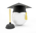 Plumbers school graduation cap on white background