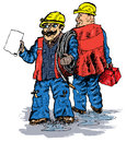 Plumbers (vector) Royalty Free Stock Photo