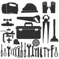 Plumbing equipment set.Repairs tools.vector