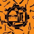Plumbing equipment set.tool.symbol.vector illustration
