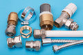 Plumbing parts Royalty Free Stock Images
