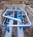 Plumbing and pipes Royalty Free Stock Photos