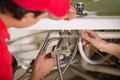 Plumbing professional plumber repair service Royalty Free Stock Photography