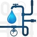 Plumbing repair business background