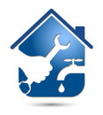 Plumbing repairs, business design Stock Image