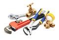 Plumbing tools Royalty Free Stock Photo