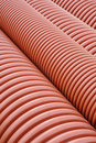 Plumbing tubes close-up Royalty Free Stock Photo