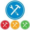 Plumbing work symbol icon