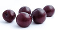 Plums fruit isolated on a white background Stock Photos