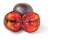 Plums isolated Royalty Free Stock Photography