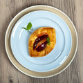 Plums pastries delicious homemade dessert selective focus Royalty Free Stock Image