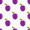 Plums pattern seamless isolated Royalty Free Stock Photo