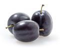 Plums  on white Royalty Free Stock Images