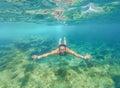 Pád hlboký modrý more