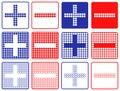 Plus minus symbol set of variants Stock Image