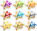 A Plus motivation sticker Stock Photos