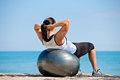 Plus Size Female Exercise Outdoor Royalty Free Stock Photo