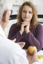 Plus size woman in meeting with dietitian surgery Royalty Free Stock Photography