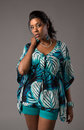 Plus Size Young African American Woman Portrait Stock Photos