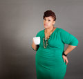 Plus sized business woman Royalty Free Stock Photo