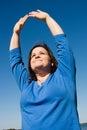 Plus Sized Fitness - Praise Royalty Free Stock Photo