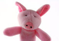 Plush Pink Toy Pig Royalty Free Stock Images