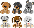 Plush puppies Royalty Free Stock Photos