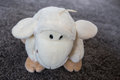 Plush toy sheep charming dreaming sheep plush toy modelling is lovely toys white body round eyes soft fur is very lovely Stock Photos
