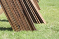 Ply wood for new  fence building Royalty Free Stock Photo