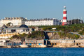 Plymouth hoe from mount batten views accross to devon england uk europe Stock Photo