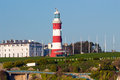 Plymouth hoe from mount batten views accross to and smeaton s tower devon england uk europe Royalty Free Stock Photography