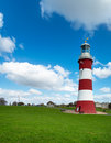 Plymouth hoe smeaton s tower the historic lighthouse on the at in devon Stock Photography