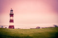 Plymouth lighthouse Royalty Free Stock Photo