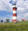Plymouth`s Hoe, Smeaton`s Tower Lighthouse. Royalty Free Stock Photo