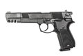 Pneumatic air pistol calibre mm isolated on the white Stock Photography