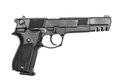 Pneumatic air pistol calibre mm isolated on the white Royalty Free Stock Photography