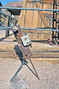 Pneumatic drill this air powered replaced the steam powered used in mining operations to break the rock loose it required an Royalty Free Stock Image