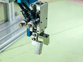 Pneumatic robot input to handle grip handle is an aluminum alloy material Stock Images