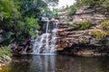 Poço do Diabo Waterfall in Mucugezinho River - Chapada Diamantina, Bahia, Brazil Royalty Free Stock Photo