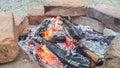 Pożarniczy plenerowy Obraz Royalty Free