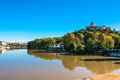The Po River and the Monte dei Cappuccini in Turin, Italy Royalty Free Stock Photo