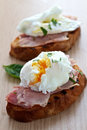 Poached egg breakfast Stock Photography